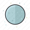 forecast, full, moon, night, weather icon