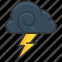 cloud, forecast, lightening, storm, weather
