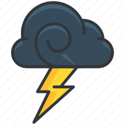 cloud, forecast, lightening, storm, weather icon