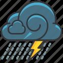 forecast, lightening, rain, storm, weather