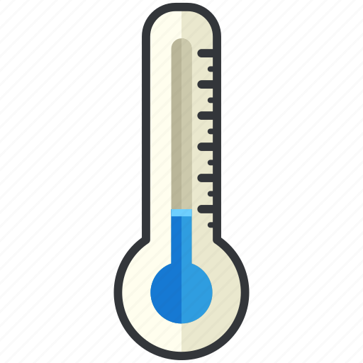 forecast, low, temperature, thermometer, weather icon