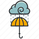 cloud, forecast, rain, umbrella, weather