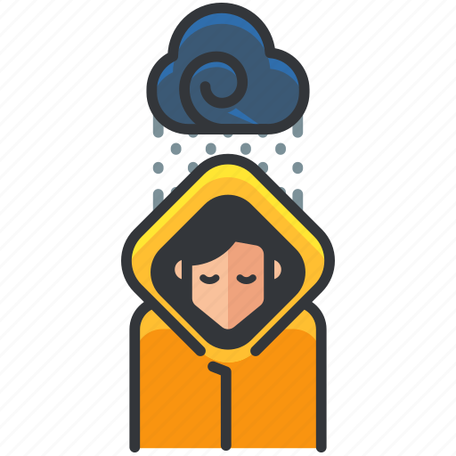 cloud, forecast, rain, raining, weather icon