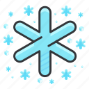 forecast, snow, snowflake, weather, winter icon