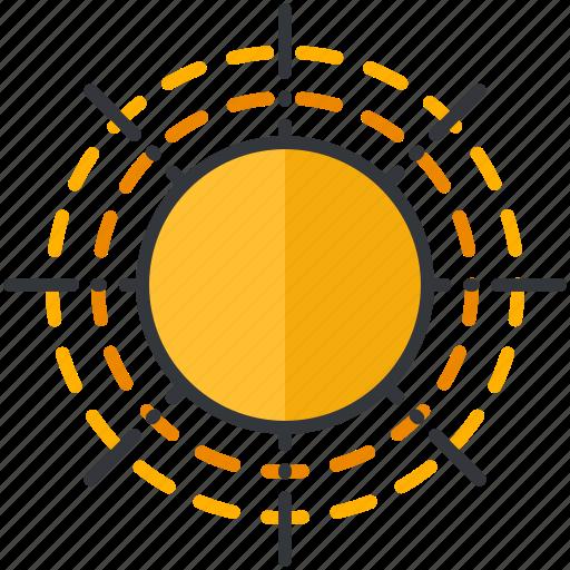 forecast, heat, hot, sun, sunny, weather icon