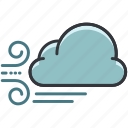 cloud, clouds, forecast, weather, windy icon