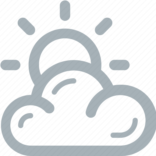 cloudy, partly, season, weather icon