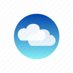 clouds, day, sky, weather icon