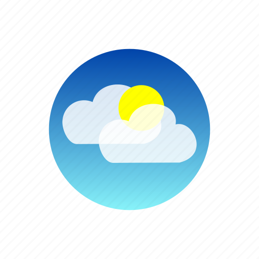 clouds, day, hot, rays, sky, sun, weather icon