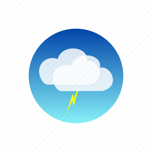 clouds, day, lightning, sky, storm, temporal, weather icon
