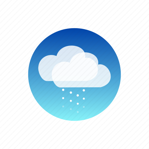 clouds, day, sky, snow, storm, temporal, weather icon