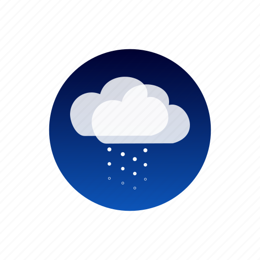 clouds, night, sky, snow, temporal, weather icon
