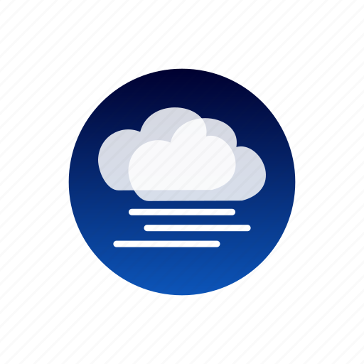 clouds, fog, night, sky, weather icon