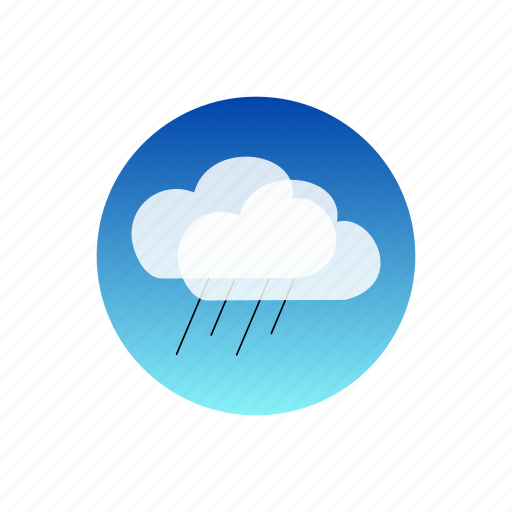 clouds, day, rain, sky, storm, temporal, weather icon