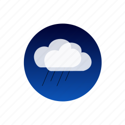 clouds, night, rain, sky, storm, temporal, weather icon
