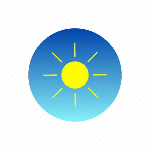 day, hot, rays, sky, sun, weather icon