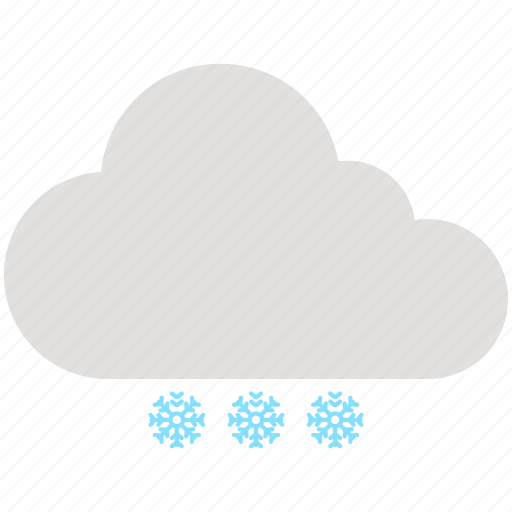 cloud, cloudy, snow, snowflake, weather, winter icon