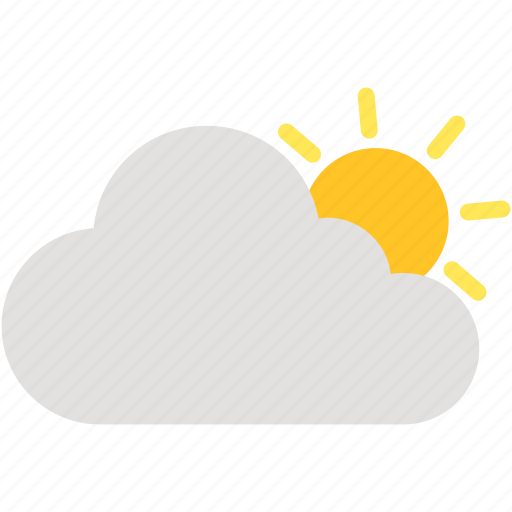 cloud, cloudy, day, sun, weather icon