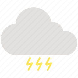 cloud, cloudy, electricity, light, thunder, weather icon