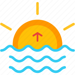 day, nature, rise, sun, up, weather icon
