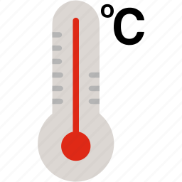 celcius, cold, fever, hot, temperature, thermometer, weather icon