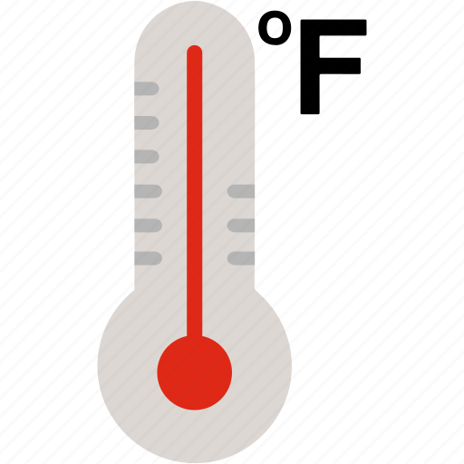 cold, fahrenheit, fever, hot, temperature, thermometer, weather icon