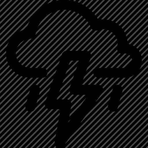 cloud, forecast, lightning, rain, storm, thunder, weather icon