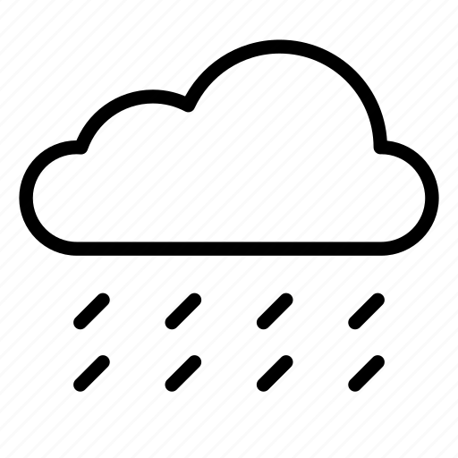 cloud, clouds, nature, rain, raining, rainstorm, weather icon