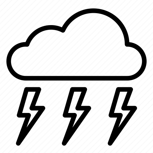 cloud, clouds, lightning, nature, storm, stormy, weather icon