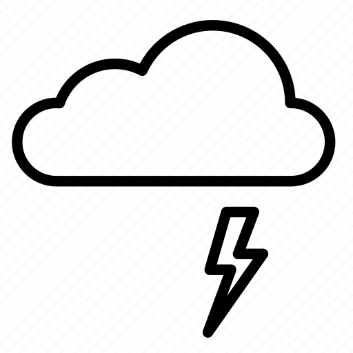 cloud, clouds, cloudy, lighting, nature, storm, weather icon