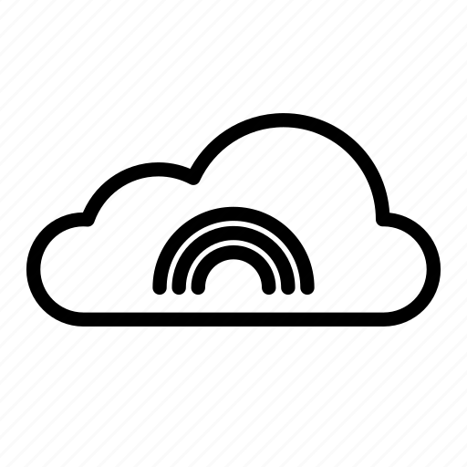 cloud, clouds, cloudy, nature, rainbow, sky, weather icon