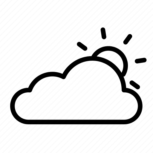 cloud, clouds, nature, partly cloudy, partly sunny, sun, weather icon
