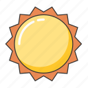 hot, summer, sun, sunshine, weather icon