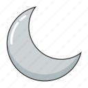 crescent moon, half moon, moon, night, night time, weather icon