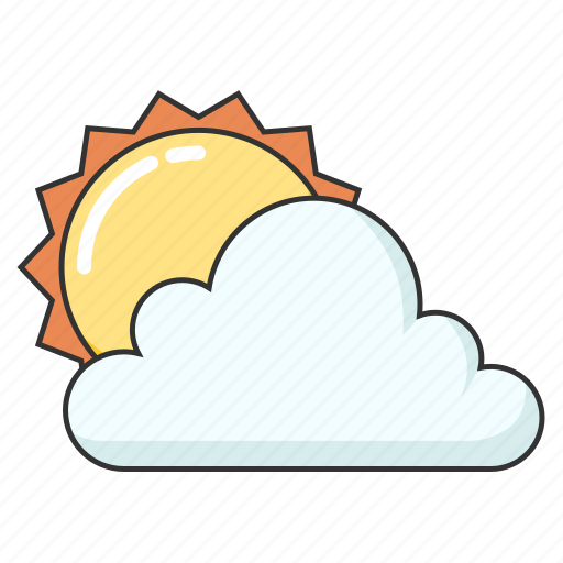 cloudy, forecast, partially sunny, sun and cloud, weather icon