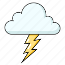 bad weather, flash, lightning, thunder, weather icon