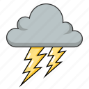 dark cloud, lightnight, stormy, thunder, weather icon