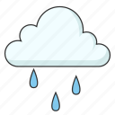 cloud, cold, light rain, raining, weather icon