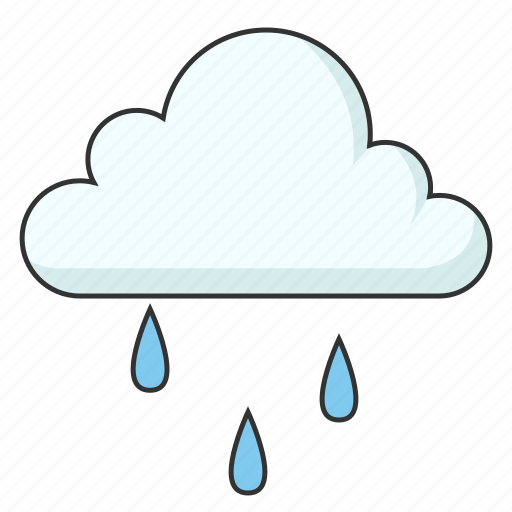 cloud, cold, light rain, raining, weather icon