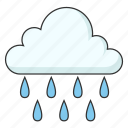 cloudy, heavy rain, raining, weather, wet icon