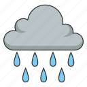 cloud, heavy rain, raining, weather, wet icon