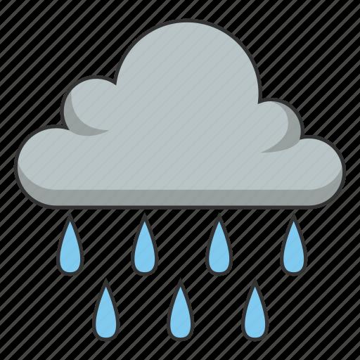 cloud, heavy rain, raining, weather, wet icon