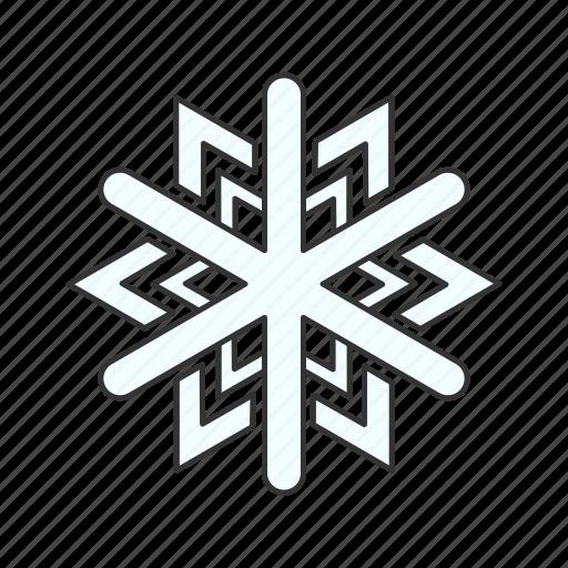cold, freezing, snow, snowflake, weather, winter icon