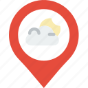 cloudy, forecast, weather icon