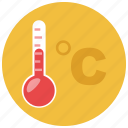 celcius, forecast, temperature, thermometer, weather icon