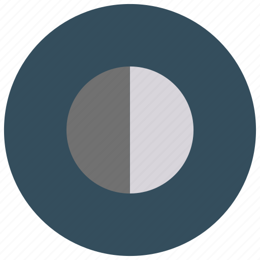 first, moon, phase, quarter icon