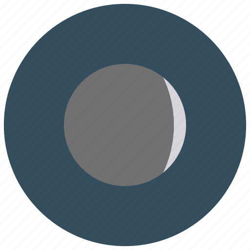 crescent, moon, phase, waxing icon