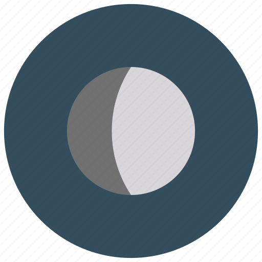 gibbous, moon, phase, waxing icon