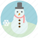 cold, snow, snowflake, snowman, winter icon