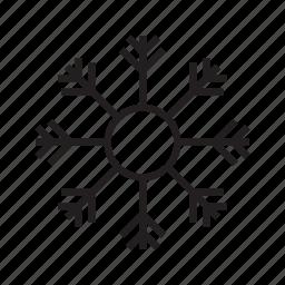 cold, snow, snowfall, snowflakes, weather, winter icon